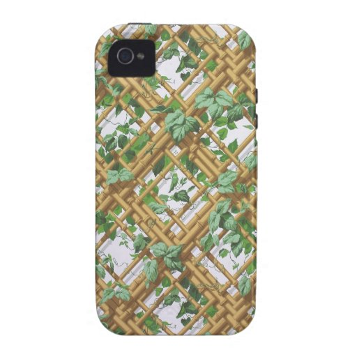 Dense ivy and trellis pattern wallpaper, 1853-1859 Case-Mate iPhone 4 covers