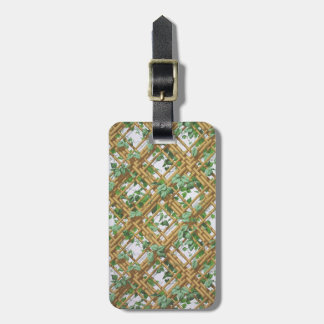 Dense ivy and trellis pattern wallpaper, 1853-1859 luggage tag