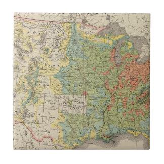 Densidad demográfica de Estados Unidos, 1890 Tejas Cerámicas