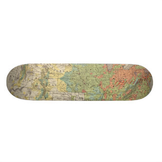 Densidad demográfica de Estados Unidos, 1890 Tabla De Skate