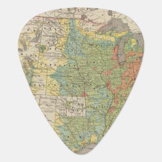 Densidad demográfica de Estados Unidos, 1890 Púa De Guitarra