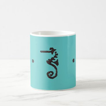 Coffee Themed Denslow Seahorse   Coffee Mug
