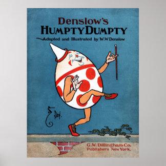 Denslow's Humpty Dumpty Book Cover Canvas Print 30