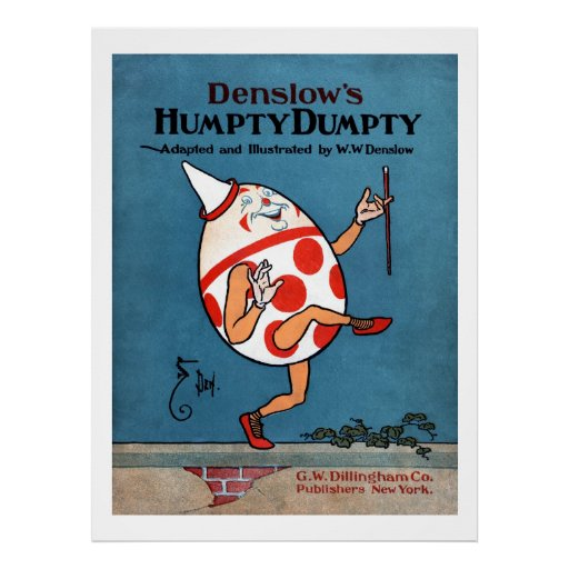 Denslow's Humpty Dumpty Book Cover Poster