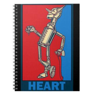 Denslow's Wizard of Oz: Heart Spiral Notebook