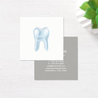 Dental 3D Tooth Minimalist Dentist Square Business Card