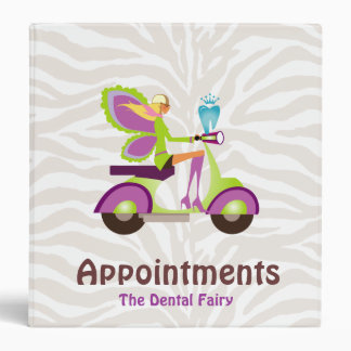 Dental Appointment Book Cute Tooth Fairy Vinyl Binders