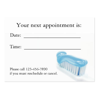Dental Appointment Card Large Business Cards (Pack Of 100)