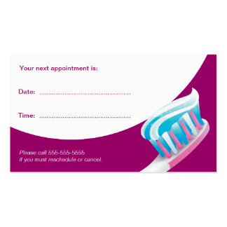 Dental Appointment Card Dentist Business Card