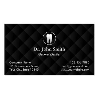 Dental Appointment Classic Black Quilted Dentist Business Card