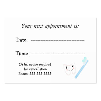 Dental Appointment Large Business Cards (Pack Of 100)