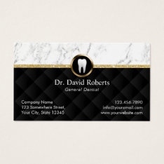 Dental Appointment Modern Marble Luxury Dentist Business Card at Zazzle