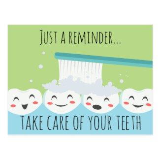 Dental Appointment Reminder Postcard