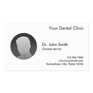 Dental Appointment Simple Plain Custom Photo Business Card