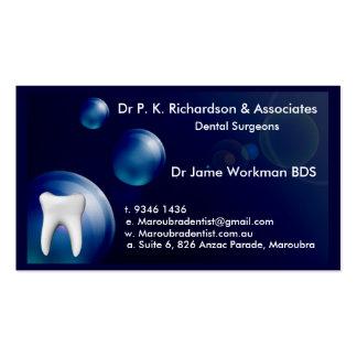 Dental Art Blue Bubble Design Card Business Card