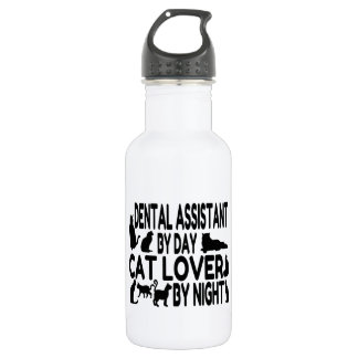 Dental Assistant Cat Lover Water Bottle
