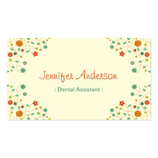 Dental Assistant - Chic Nature Stylish Business Card