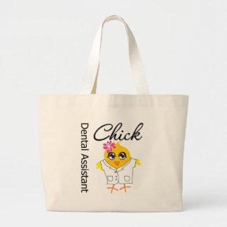 Dental Assistant Chick Large Tote Bag