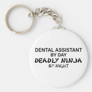 Dental Assistant Deadly Ninja Basic Round Button Keychain