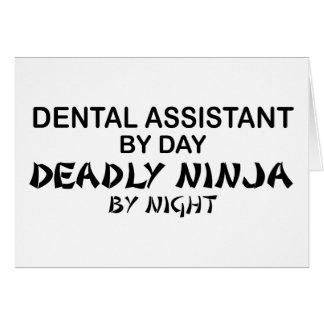 Dental Assistant Deadly Ninja Card
