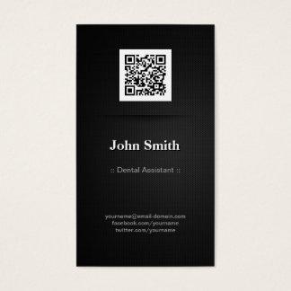 Dental Assistant - Elegant Black QR Code Business Card