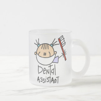 Dental Assistant Frosted Glass Coffee Mug