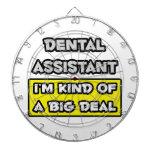 Dental Assistant .. I'm Kind of a Big Deal Dartboard