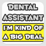 Dental Assistant .. I'm Kind of a Big Deal Square Stickers