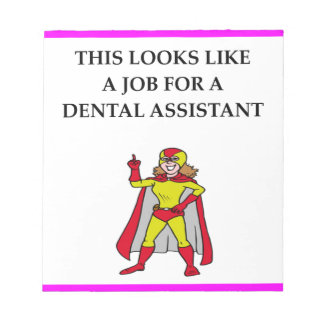 DENTAL assistant Note Pad