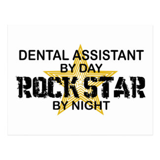 Dental Assistant Rock Star Postcard