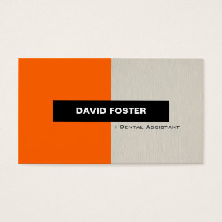 Dental Assistant - Simple Elegant Stylish Business Card
