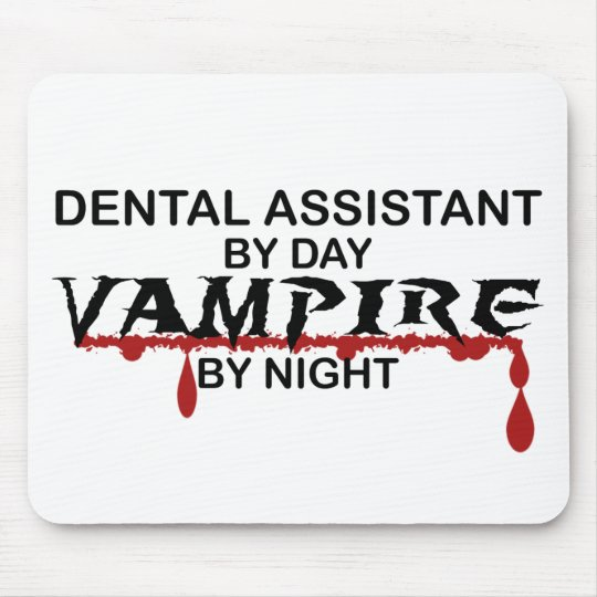 Dental Assistant Vampire by Night Mouse Pad