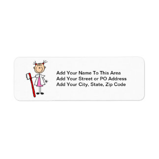 Dental Assistant With Toothbrush Labels