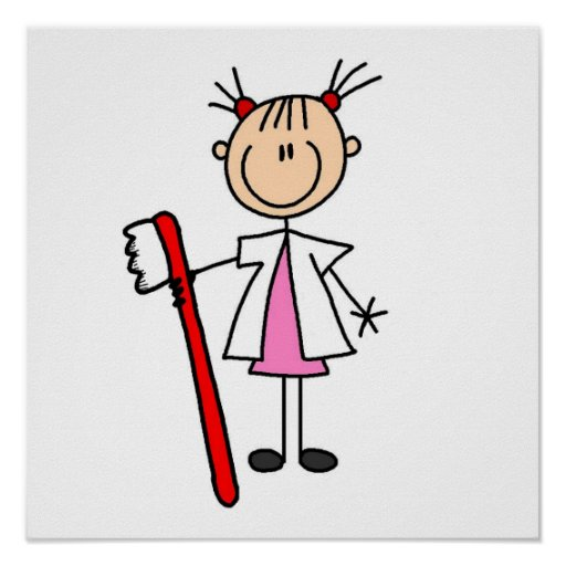 Dental Assistant With Toothbrush Poster