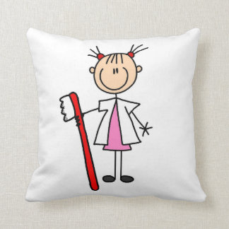 Dental Assistant With Toothbrush Throw Pillow