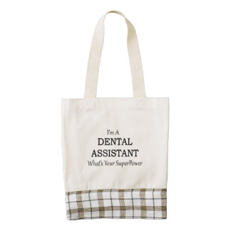 DENTAL ASSISTANT ZAZZLE HEART TOTE BAG