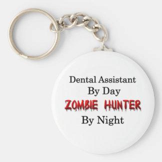 Dental Assistant/Zombie Hunter Basic Round Button Keychain