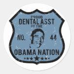 Dental Asst Obama Nation Classic Round Sticker