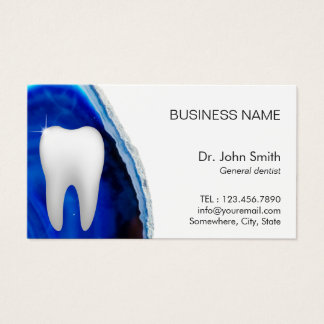 Dental Blue Agate Stone Dentist Appointment Business Card