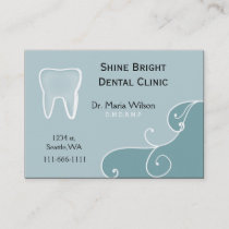 Dental businesscards with appointment card