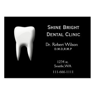 Dental businesscards with appointment card large business cards (Pack of 100)