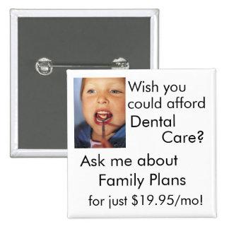 Dental Care 2 Inch Square Button