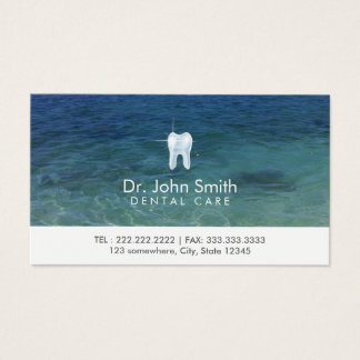 Dental Care Clean Sea Water Appointment Business Card