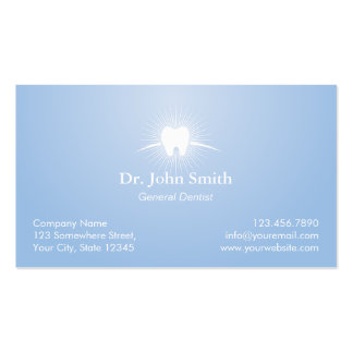 Dental Care Light Blue Dentist Appointment Business Card