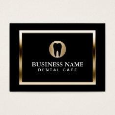 Dental Care Modern Gold Border Dentist Business Card at Zazzle