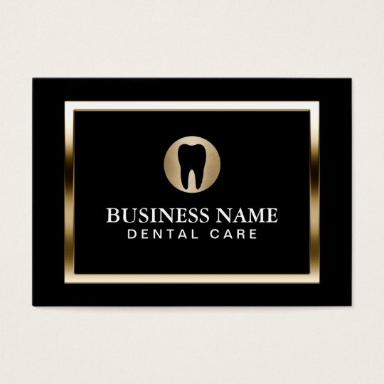 Dental care modern gold border dentist business card zazzle dental care modern gold border dentist business card reheart Image collections