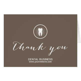 Dental Care Simple Tooth Icon Business Thank You Card
