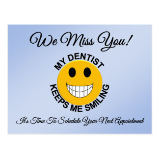 Dental Checkup Appointment Reminder Postcard