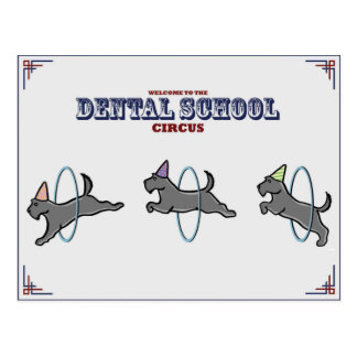 """Dental Circus"" Card Postcard"