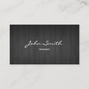 Dental hygiene business cards templates zazzle dental classy dark wood hygienist business card colourmoves